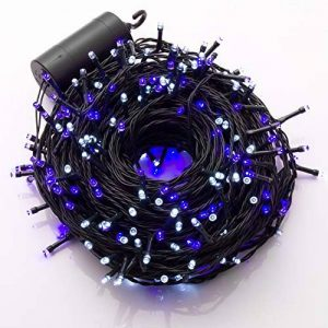 Ulinek 40M 300 LEDs Guirlande Lumineuse à Piles 8 Modes d'éclairage Décoration Extérieure et Intérieure pour Maison, Jardin, Mariage, Fêtes Multicolore Fête Noël Fil Cuivre -Lumière Bleu/Blanc de la marque Ulinek image 0 produit