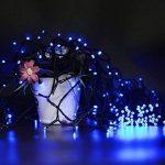 Ulinek 40M 300 LEDs Guirlande Lumineuse à Piles 8 Modes d'éclairage Décoration Extérieure et Intérieure pour Maison, Jardin, Mariage, Fêtes Multicolore Fête Noël Fil Cuivre -Lumière Bleu/Blanc de la marque Ulinek image 4 produit