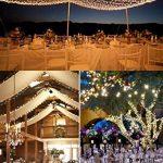 Ulinek Guirlandes Lumineuses 50M 250 LED Guirlande Décoration avec 8 Modes d'éclairage pour Anniversaire, Noël, Christmas Tree, Arbre de Noël Mariage, Party, Maison (Blanc Chaude) de la marque Ulinek image 2 produit