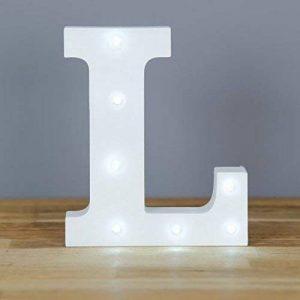Up in Lights Lettre L de l'alphabet en bois avec LED décoratives de la marque smiling faces image 0 produit