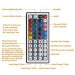 【Upgrade】 Ruban de LED, Jirvyuk Ruban de LED Multicolores 5050 RGB SMD Flexible Kit de Ruban à LED- 32.8ft (10M) 300 LEDs + Adapteur + Alimentation + Télécommande à Infrarouge 44 Touches de la marque Jirvyuk image 4 produit