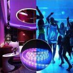 【Upgrade】 Ruban de LED, Ruban de LED Multicolores 3528 RGB SMD Flexible Kit de Ruban à LED- 32.8ft (10M) 600 LEDs + Adapteur + Alimentation 2A 12V + Télécommande à Infrarouge 44 Touches de la marque Tzxer image 1 produit