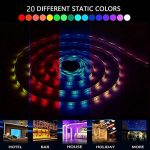 【Upgrade】 Ruban de LED, Ruban de LED Multicolores 3528 RGB SMD Flexible Kit de Ruban à LED- 32.8ft (10M) 600 LEDs + Adapteur + Alimentation 2A 12V + Télécommande à Infrarouge 44 Touches de la marque Tzxer image 2 produit