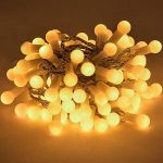 Uping Guirlande Lumineuse Boule LED 12m 100 Ampoules avec Prise EU 8 Modes de Fonctionnement Décoration Halloween/Noël/Jardin/Cérémonie Intérieur et Extérieur(Blanche chaude) de la marque Uping image 2 produit