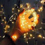 Uping Guirlande Lumineuse Etanche 丨10M, 100 Micro LEDs Etoilés丨Câble en Cuivre Pliable 丨8 Modes avec Prise EU丨Décoration Intérieur & Extérieur (Blanche chaude) de la marque Uping image 4 produit
