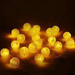 Uping Guirlande Lumineuse Lampion Batterie Etanche 20 LED 3,6 mètres Décoration Intérieure et Extérieure pour Noël Jardin Soirée et Cérémonie(Blanche chaude) de la marque Uping image 4 produit