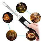 USB Briquet rechargeable, GogoTool sans flamme coupe-vent pour bougie, grill, cuisinière, Noir de la marque GogoTool image 4 produit
