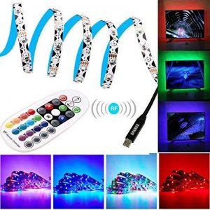 USB Ruban à LED, Sparke 3528 3m Avec 5V USB Câble et 28 Touches Télécommande Ruban à LED pour Décoration TV Moniteur Derrière, Ordinateur, etc de la marque SPARKE image 0 produit