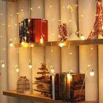 Ustellar Rideau lumineux, 8 Modes d'Eclairage, 3M X 0,8M, 108 LED, DC 31V, Etanche IP65, Lumière Blanc Chaud, Guirlande Lumineuse LED , Décoration Fenêtre Chambre Mariage Noël de la marque Ustellar image 3 produit