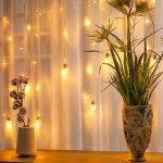 Ustellar Rideau lumineux, 8 Modes d'Eclairage, 3M X 0,8M, 108 LED, DC 31V, Etanche IP65, Lumière Blanc Chaud, Guirlande Lumineuse LED , Décoration Fenêtre Chambre Mariage Noël de la marque Ustellar image 4 produit