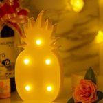 Veilleuse ananas LED Lampe de chevet MOOKLIN Blanc chaud Lumière de Nuit pour Ambiance Soirée Cadeau Anniversaire Cadeaux de noël – Ananas de la marque MOOKLIN image 4 produit