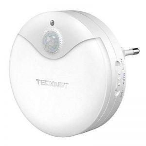 Veilleuse LED Autocollante, TeckNet Eclairage de nuit avec détecteur de mouvement & Détecteur de Lumière, Enfichable, AC 220-240V de la marque TeckNet image 0 produit