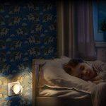 Veilleuses Lot de 2 Lampes LED Murale Automatique Plug-and-Play avec Capteur Crépusculaire, Economique: Environ 0,2 W, WappSun Eclairage pour Chambre de Bébé, Couloir, Escalier, Blanc Chaud.[Classe énergétique A++] de la marque WappSun image 4 produit