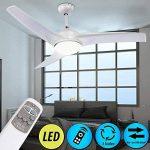 ventilateur plafond blanc avec luminaire TOP 4 image 1 produit