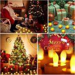 VICTSING Bougies à LED Lot de 24 Electronique à Pile Bougies à LED Fausses Bougies électriques Mini Bougie avec Lumière Jaune Chaud (Piles Incluses) pour Votive Anniversaire Mariage fête Noël de la marque VICTSING image 1 produit