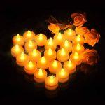 VICTSING Bougies à LED Lot de 24 Electronique à Pile Bougies à LED Fausses Bougies électriques Mini Bougie avec Lumière Jaune Chaud (Piles Incluses) pour Votive Anniversaire Mariage fête Noël de la marque VICTSING image 4 produit