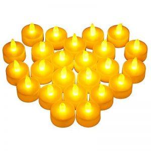 VICTSING Bougies à LED Lot de 24 Electronique à Pile Bougies à LED Fausses Bougies électriques Mini Bougie avec Lumière Jaune Chaud (Piles Incluses) pour Votive Anniversaire Mariage fête Noël de la marque VICTSING image 0 produit