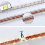 Viktion - 220V 10m SMD 5050 LED Ruban Bande Strip étanche flexible sécable 600 LEDs éclairage - utiliser directement pas besoin de l'adapteur, plus pratique (Blanc froid) de la marque Viktion image 1 produit