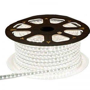 Viktion - 220V 15m SMD 5050 LED Ruban Bande Strip 900 LEDs éclairage étanche waterproof - utiliser directement pas besoin de l'adapteur (Blanc froid) de la marque Viktion image 0 produit