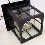 Vintage E27 Suspension Extérieur Lampe En Verre Noir Aluminium Pendentif Luminaires Imperméable IP23 Rétro Plafonnier Suspendu Hauteur Réglable Extérieur Luminaire 18 * 18Cm de la marque HONGOU LIGHT image 4 produit