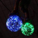 Vintage Guirlande lumineuse à LED Ampoule G100E27Base en forme de globe Boule ampoule décorative Starry pour fête de mariage de Noël Café Bar fête 3W 80–220V de la marque AE image 3 produit