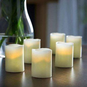Vonhaus Set de 6 Bougies LED en Cire – Soufflez sur la Flamme pour l'éteindre – Piles incluses de la marque Vonhaus image 0 produit
