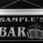 w008249-b BRETON'S Nom Accueil Bar Pub Beer Mugs Cheers Neon Sign Biere Enseigne Lumineuse de la marque AdvPro Name image 2 produit