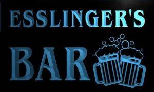 w018047-b ESSLINGER'S Nom Accueil Bar Pub Beer Mugs Cheers Neon Sign Biere Enseigne Lumineuse de la marque AdvPro Name image 0 produit