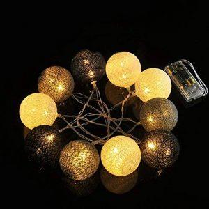 Weksi® 10LED Guirlandes Lumineuses Boules 1.55M Batterie Boule de Cordes pour Noël, Mariage, Patry, Decoration de la marque WEKSI INC image 0 produit