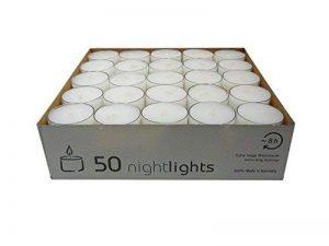 Wenzel-Kerzen 23-217-50-Uk Nightlights Lot De 50 Bougies Avec Récipients En Plastique Jusqu'à 8 H D?Autonomie de la marque Wenzel-Kerzen image 0 produit