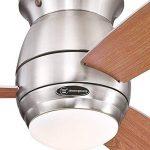 Westinghouse 7218140 Ventilateur de Plafond d'Intérieur, Kit d'Eclairage, Métal, Nickel Brossé de la marque Westinghouse image 2 produit