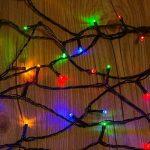 WISD Guirlande Lumineuse Décorative 102.8M 1000 LED sur Câble Vert, Alimentation Électrique, Etanche IP44, 8 Modes d'éclairage, Lumière Décoration Intérieure et Extérieure pour Noël, Sapin, Chambre, Jardin, Fêtes, Mariage - Coloré de la marque WISD image 2 produit