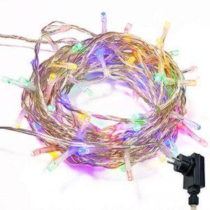 WISD Guirlande Lumineuse LED De Décoration en Coloré Pour Noël Mariage Jardin Partie,13m 100 LED Lumineuse avec 8 modes de fonction EU Plug - Coloré de la marque WISD image 0 produit