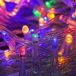 WISD Guirlande Lumineuse LED De Décoration en Coloré Pour Noël Mariage Jardin Partie,13m 100 LED Lumineuse avec 8 modes de fonction EU Plug - Coloré de la marque WISD image 2 produit