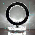 WSHFOR Mode en acier inoxydable lampe en lampe de table en lampe de chevet style moderne Créative chambre simple salon à la mode cristal lampe à cristaux liquides à double face (lumière blanche) de la marque Wshfor image 1 produit