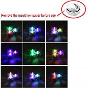 Xcellent Global Bougies à LED Lot de 12 Lumières de Thé à Piles étanche lumière coloré M-LD040 de la marque Xcellent Global image 0 produit