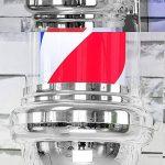 XHH-70CM Coiffeur Enseigne Lampe, Rouge, Bleu Et Blanc,Sphère Lumineuse de la marque XHH image 4 produit