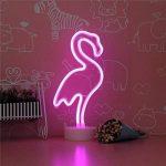 XIYUNTE Flamingo néon Light Signs Veilleuses - LED Flamant d'ambiance Lampes Décoration de la Chambre Veilleuses Néon Lumières Batterie & Opération USB Lampes de chevet Décoration pour le salon,chambre,enfants,mariage,cadeau de Noël de la marque XIYUNTE image 4 produit