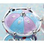 XuanMax Carrousel Boite a Musique 3-Cheval Manege Merry-Go-Round Jouets Colore Veilleuse avec A Alice Melody pour Enfants Noel Anniversaire Gift - Bleu de la marque XuanMax image 3 produit