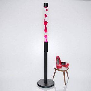 """'XXL Lampe à lave """"Paul 1,28M de haut en rouge avec structure noire/E1440W inclus/riesige Magma Lampe pour le salon chambre à coucher style rétro de la marque Licht-Erlebnisse image 0 produit"""