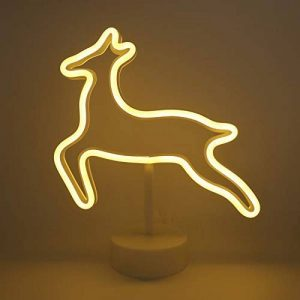 Yaeer Neon Signs enseigne Lumineuse LED avec Support Base pour Maison fête d'anniversaire Décoration de Table de Chevet Chambre à Coucher, Enfants Cadeaux de la marque Yaeer image 0 produit