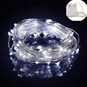 Yakamoz LED Guirlandes Lumineuses 10M 100 LEDs Comme Etoilées Lumières LED pour Noël Mariage Décoration d'extérieur et intérieure Blanc Froid Lumière Avec Boîte de Batterie de la marque Yakamoz image 0 produit