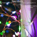 Yakamoz RGB USB Cuivre Guirlande Lumineuse LED Lumière étoilée Rouge Vert Bleu Lumières Extérieures Chaine, LED Lumiéres Etanches Corde , Lumiéres Décoratives de Noël de 33ft 100 LED Pour des Vacances Saisonnières Avec Contrôleur(8 mode d'éclairage) de la image 2 produit
