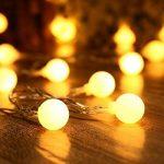 Yasolote 9.5M 50 LED Guirlande Lumineuse, 8 Modes Multicolore Avec EU-Prise, Lumières de Noël d'intérieur et Extérieures Pour Jardin, Maison, Balcon (Blanc Chaud) de la marque Yasolote image 1 produit