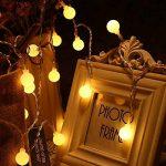 Yasolote 9.5M 50 LED Guirlande Lumineuse, 8 Modes Multicolore Avec EU-Prise, Lumières de Noël d'intérieur et Extérieures Pour Jardin, Maison, Balcon (Blanc Chaud) de la marque Yasolote image 2 produit