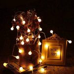 Yasolote 9.5M 50 LED Guirlande Lumineuse, 8 Modes Multicolore Avec EU-Prise, Lumières de Noël d'intérieur et Extérieures Pour Jardin, Maison, Balcon (Blanc Chaud) de la marque Yasolote image 4 produit