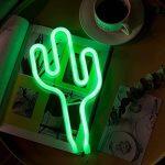 YTAT Lampe Néon Déco LED Veilleuse Neon Light Sign Batterie et USB Power Neon Light Decor Decor pour le Mariage Anniversaire Fête de Noël Partie (Green Cactus) de la marque YTAT image 2 produit