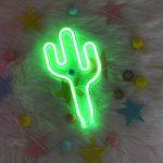 YTAT Lampe Néon Déco LED Veilleuse Neon Light Sign Batterie et USB Power Neon Light Decor Decor pour le Mariage Anniversaire Fête de Noël Partie (Green Cactus) de la marque YTAT image 4 produit