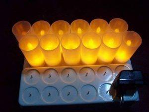 ZeleSouris kit complet de 12 bougies rechargeables sans flamme / sans cire lumière chandelle vacillante lumignon bougies électrique LED Candle Lights donne une bonne ambiance pour maison / mariage / soirée (Jaune) de la marque Générique image 0 produit
