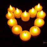 ZeleSouris kit complet de 12 bougies rechargeables sans flamme / sans cire lumière chandelle vacillante lumignon bougies électrique LED Candle Lights donne une bonne ambiance pour maison / mariage / soirée (Jaune) de la marque Générique image 3 produit